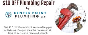 for $10 off Plumbing Repairs