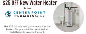 for $25 off a New Water Heater